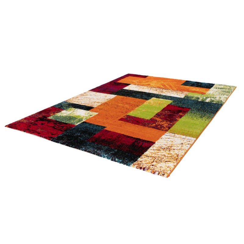 Tapis design et contemporain VIETNAM rectangulaire tissé à la machine (Multicolore) - image 41569
