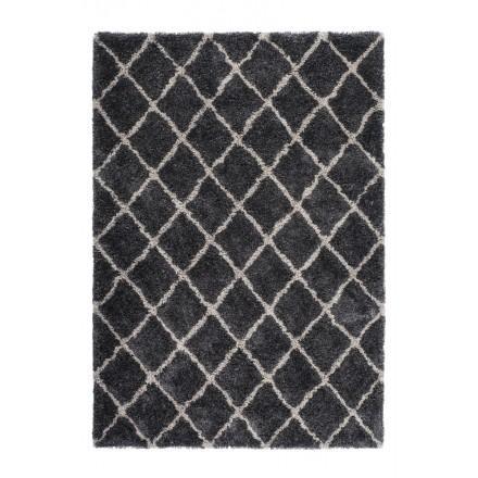 Grafischen Teppich rechteckig Ungarn Hand gemacht (grau-schwarz)