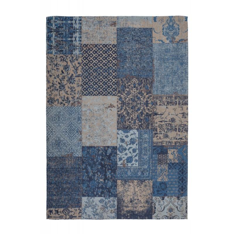 Carpet jaquard made rectangular MARSALA hand (blue) - image 41618