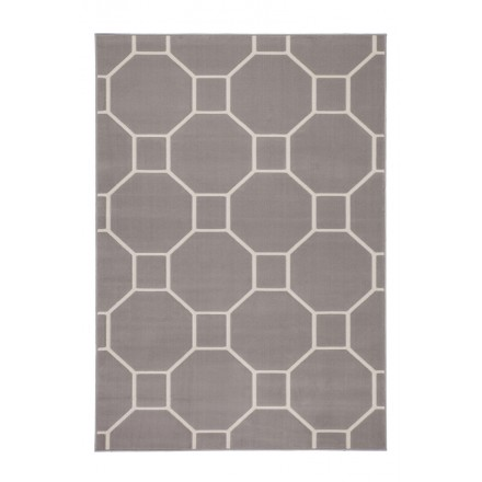 Graphic rug rectangular RAGUSA woven machine (Mole ivory)