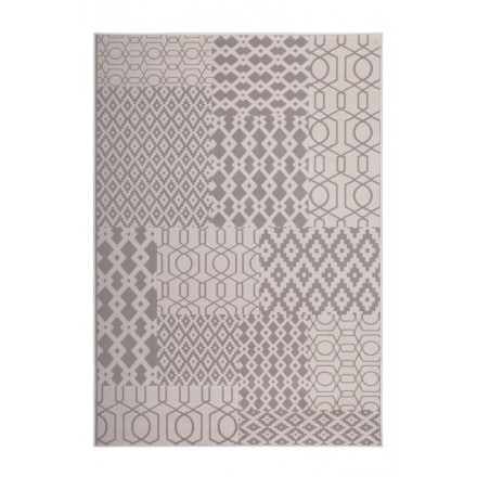 Graphic rug rectangular NAXOS woven machine (Taupe Beige)