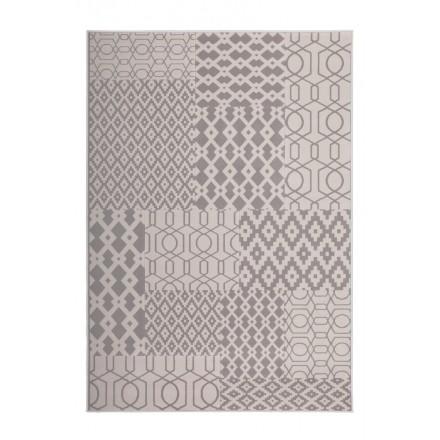 Grafischen Teppich rechteckig NAXOS gewebte Maschine (Taupe Beige)