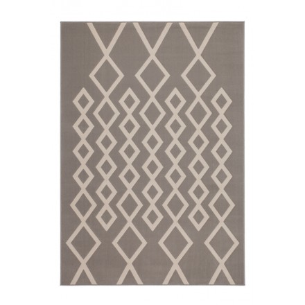 Graphic rug rectangular PIAZZA (Mole ivory) machine-woven