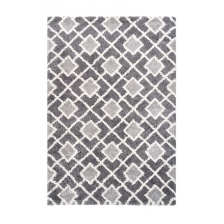 Rectangular ETNA graphic rug woven machine (grey)
