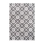 Rechteckige Ätna grafischen Teppich gewebt Maschine (grau)