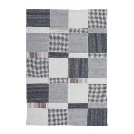 Rug patchwork is hand made rectangular VITTORIA hand (gray)