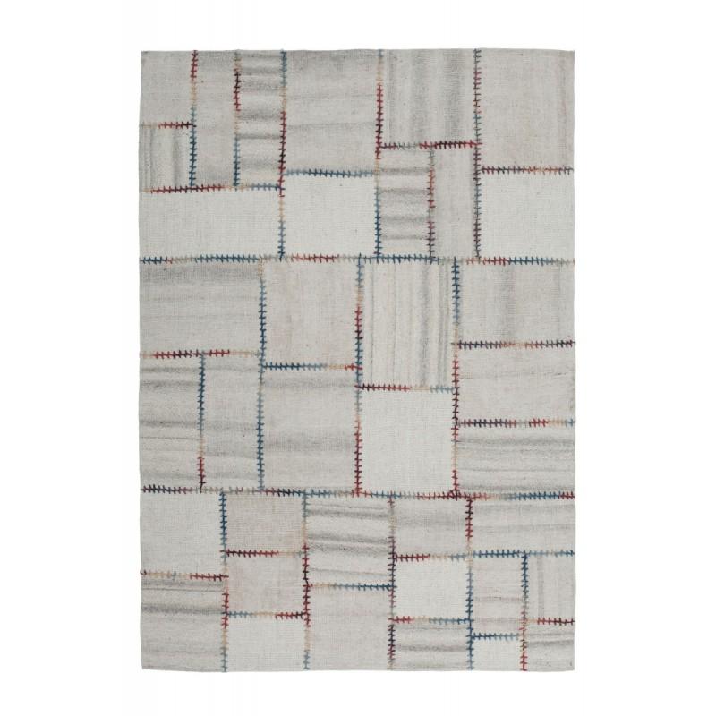 Tapis patchwork fait main COSIMO rectangulaire fait main (Beige) - image 41724