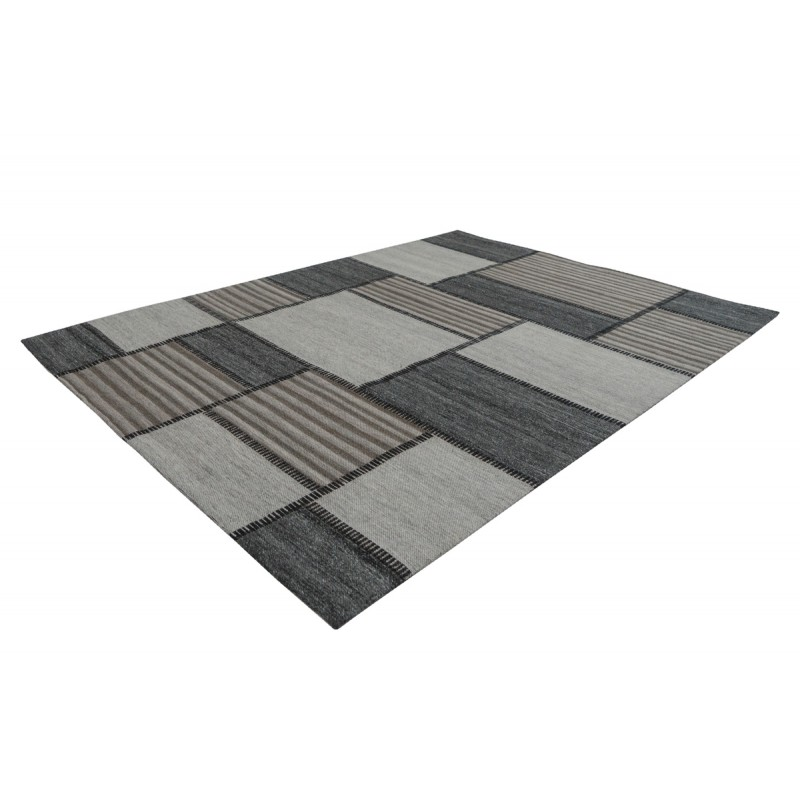 Tapis graphique PHENIX rectangulaire tissé à la machine (Marron Gris) - image 41731