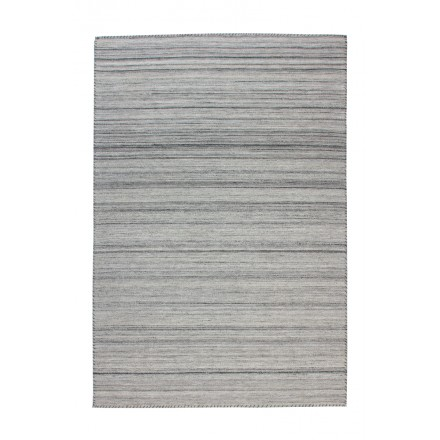 Carpet design and contemporary ATLANTA rectangular woven machine (grey)