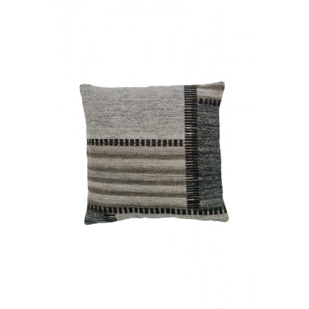 CHICAGO square cushion woven machine (Beige gray black)