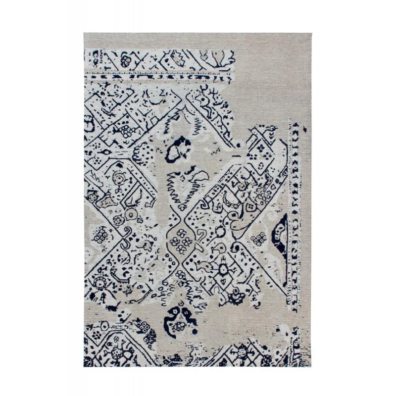Tapis rétro fait main SACRAMENTO rectangulaire fait main (Gris  Noir) - image 41764