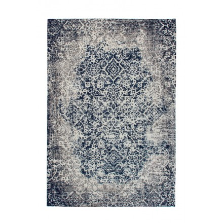 Retro rug is hand made rectangular BALTIMORE hand (grey anthracite grey)