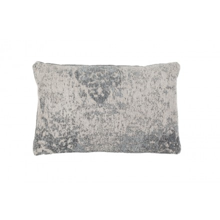 Cuscino rettangolare NOSTALGIA bohemien a mano (grigio)
