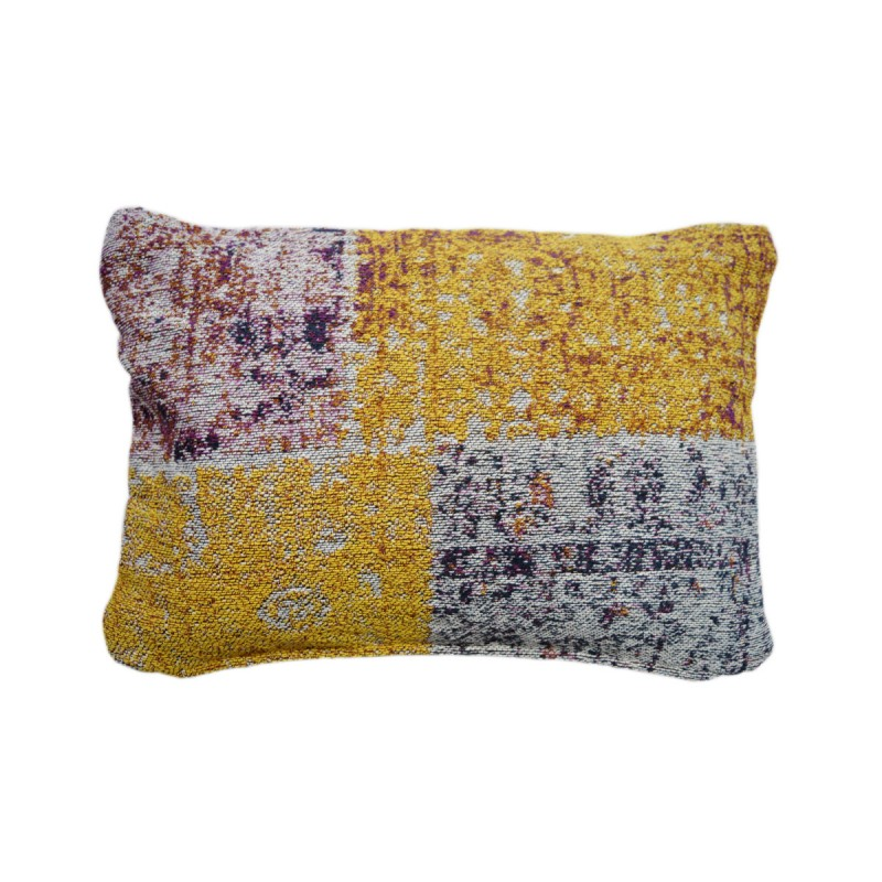 Coussin patchwork OMAHA rectangulaire fait main (Multicolore) - image 41842