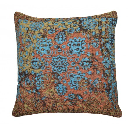 Handmade patchwork Turin square cushion (multicolor)