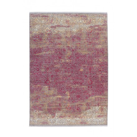 Tapis vintage ANTIGUA rectangulaire tissé à la machine (Orange Rouge)