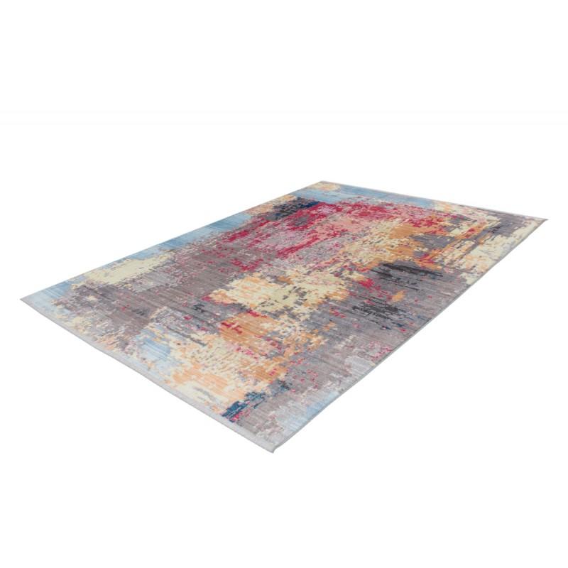 Tapis vintage HONOLULU rectangulaire tissé à la machine (Multicolore) - image 41861