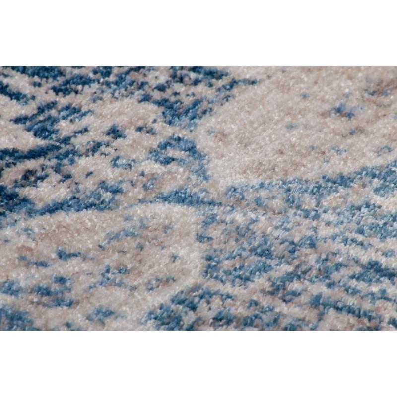 Tapis vintage KANSAS rectangulaire tissé à la machine (Crème Bleu) - image 41864