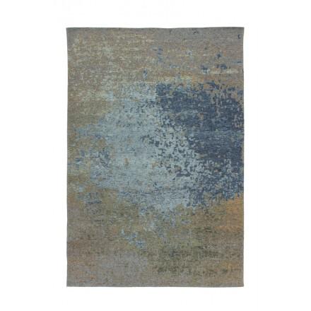 Tapis vintage BLAZE rectangulaire tissé à la machine (Beige Bleu)