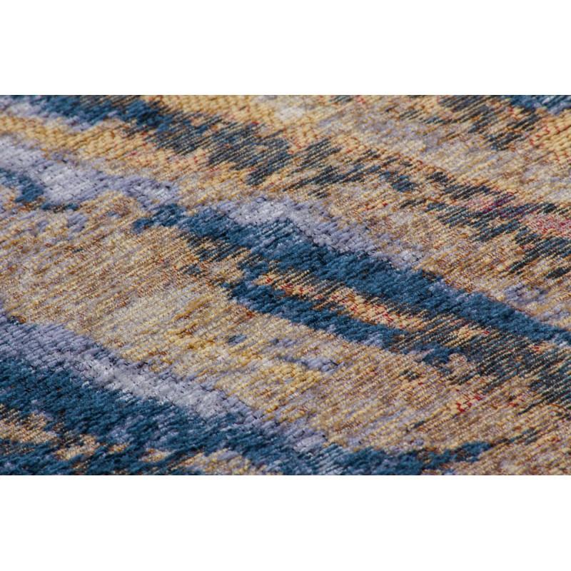 Tapis vintage FOUZE rectangulaire tissé à la machine (Beige Bleu) - image 41880