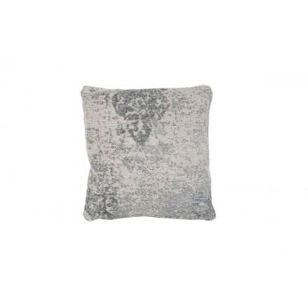 NOSTALGIA Bohemia Cojín cuadrado hecho a mano (gris)
