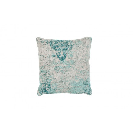 Bohemian NOSTALGIA square done hand cushion (turquoise blue Brown)