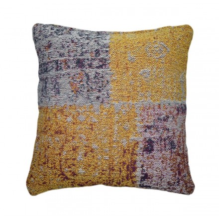 OMAHA square patchwork cushion handmade (multicolor)