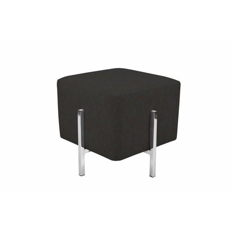 Pouf design CELYA (Noir gris argent)