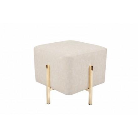 Puf de diseño ELONA (crema de oro)
