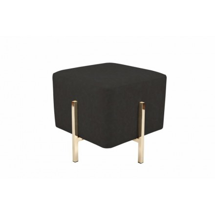 Pouf design ELONA (grey Golden black)