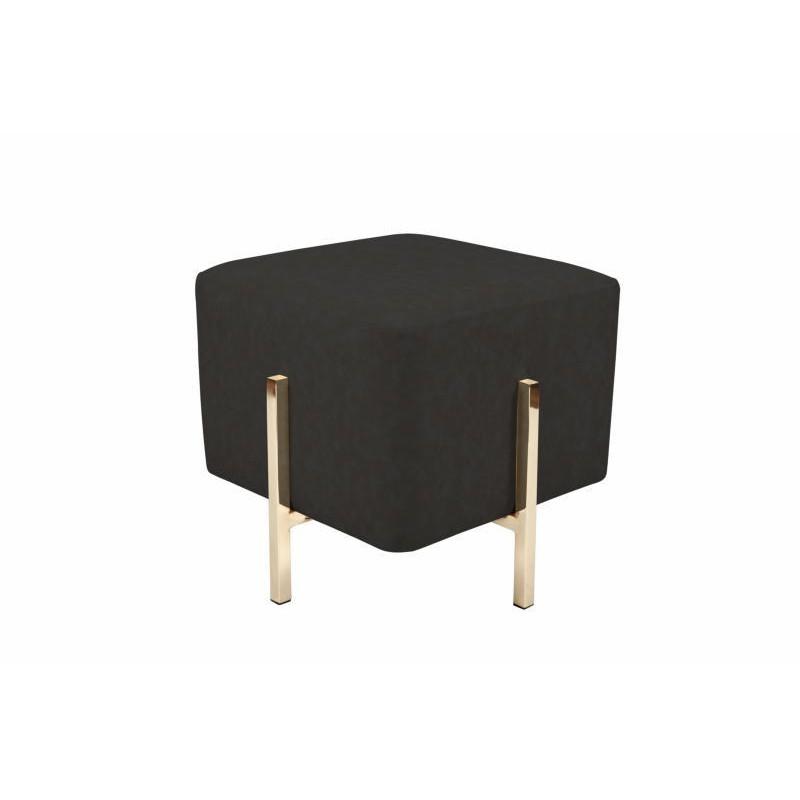 Pouf design ELONA (Noir gris doré) - image 41982
