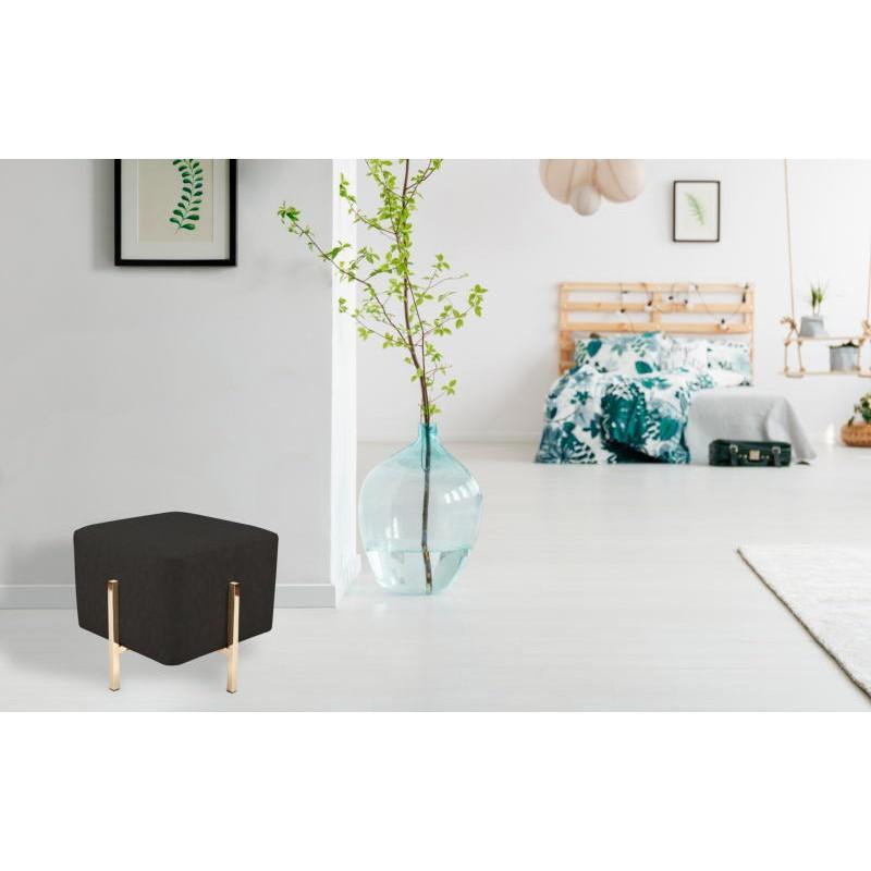 Pouf design ELONA (Noir gris doré) - image 41983