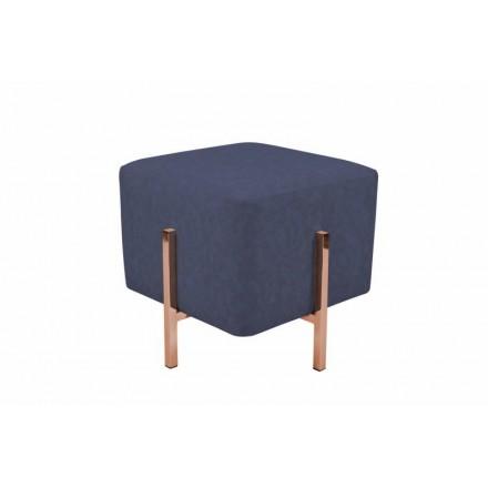 Pouf design LYSON (Bleu cuivre)
