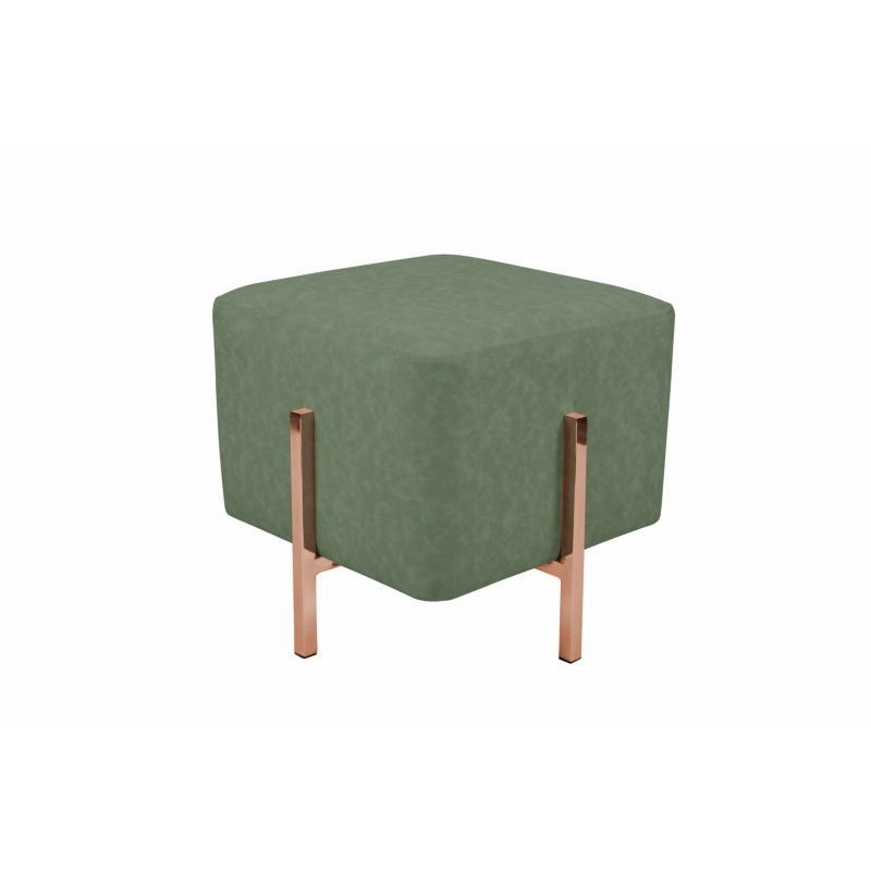 Pouf design LYSON (copper green) - poufs