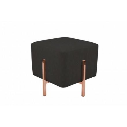Pouf design LYSON (grey black copper) - AMP Story 6146