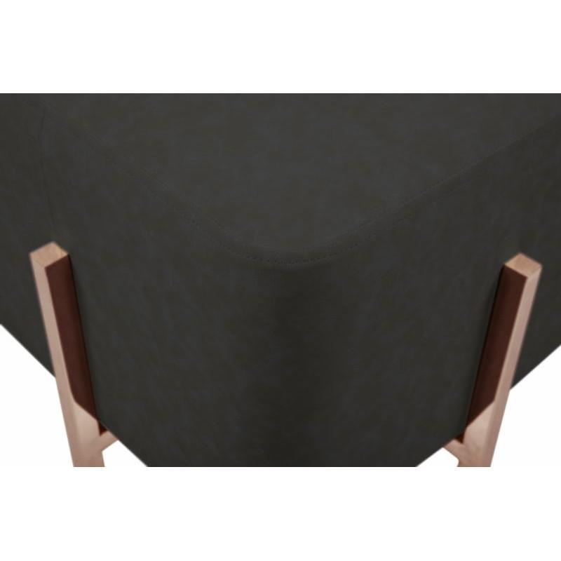 Pouf design LYSON (Gris noir cuivre) - image 41999