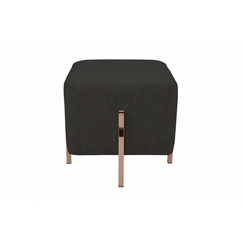 Pouf design LYSON (Gris noir cuivre) - image 42001