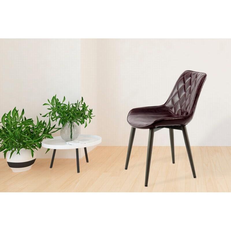 Lot de 2 chaises rétro matelassées EUGENIE (Violet) - image 42003