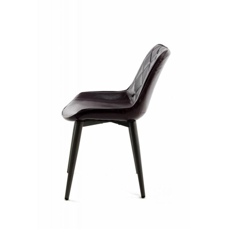 Lot de 2 chaises rétro matelassées EUGENIE (Violet) - image 42007