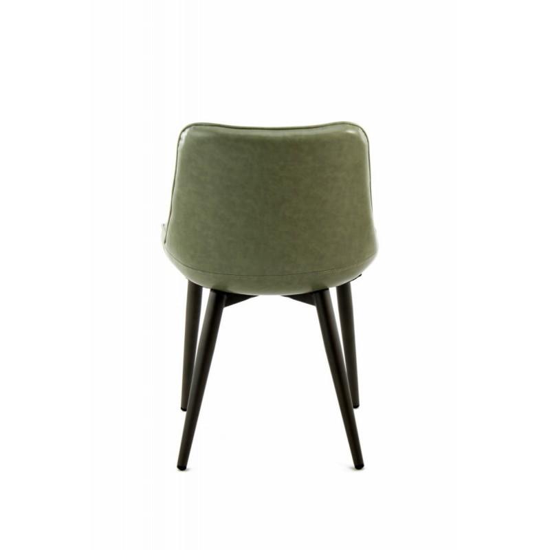 Lot de 2 chaises rétro matelassées EUGENIE (Vert) - image 42014