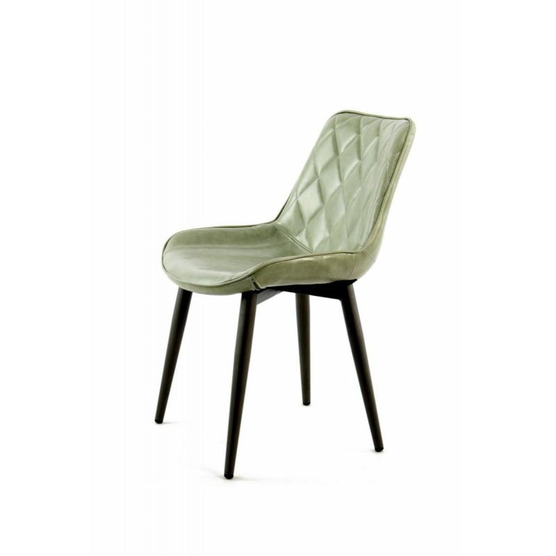 Lot de 2 chaises rétro matelassées EUGENIE (Vert) - image 42015