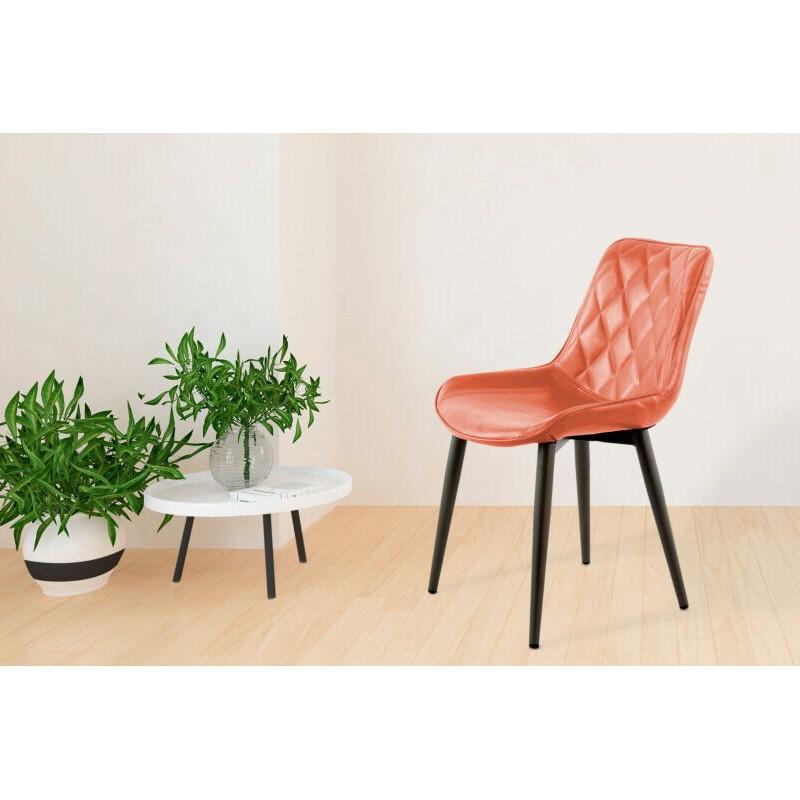 Lot de 2 chaises rétro matelassées EUGENIE (Marron) - image 42020