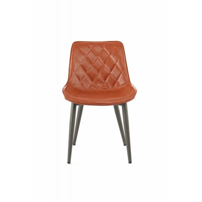 Lot de 2 chaises rétro matelassées EUGENIE (Marron) - image 42021
