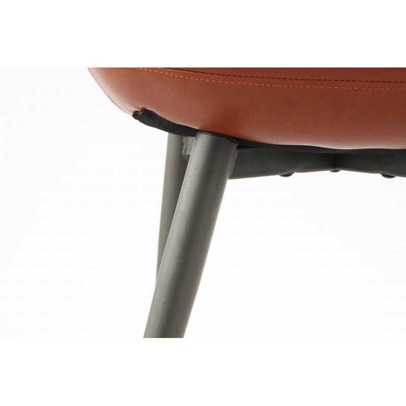 Lot de 2 chaises rétro matelassées EUGENIE (Marron) - image 42026
