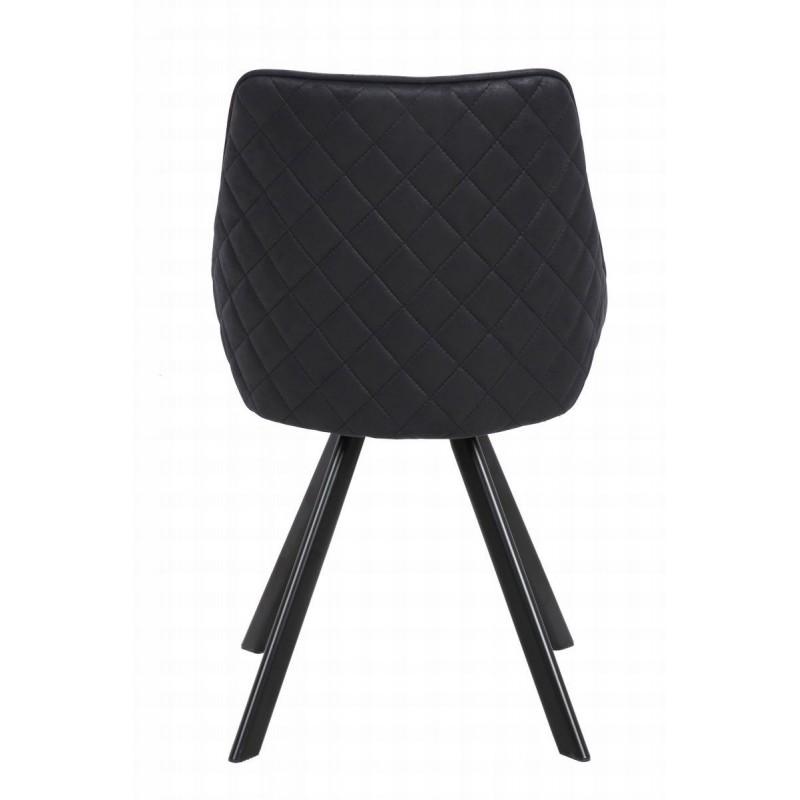 tissu en 2 Lot chaises LAURINENoirChaises scandinave de FJ3cTK1l