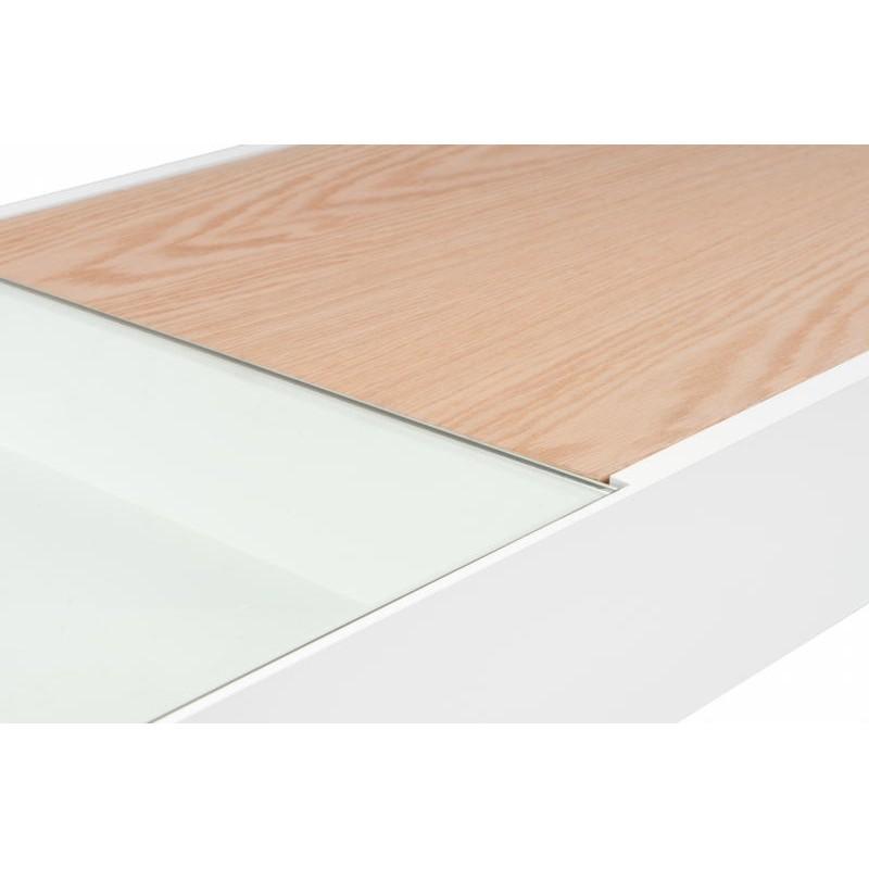 Table basse scandinave en bois MAITHE (Blanc, Naturel) - image 42248