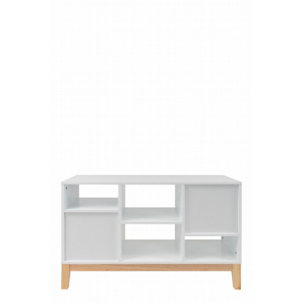 Scandinavian low Storage MAITHE (white, natural)