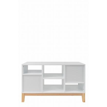 MAITHE de almacenamiento bajo escandinavo (blanco, natural)