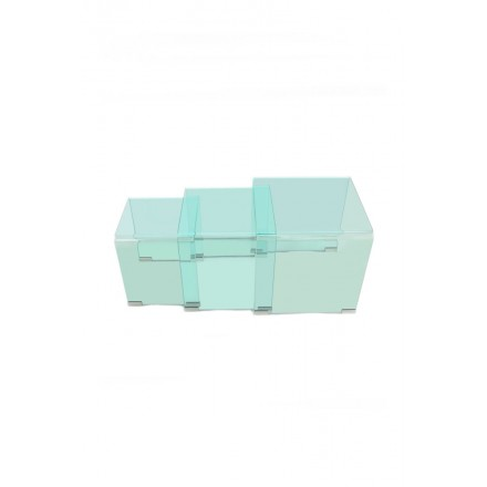 Glass (Transparent) TANYA nesting tables