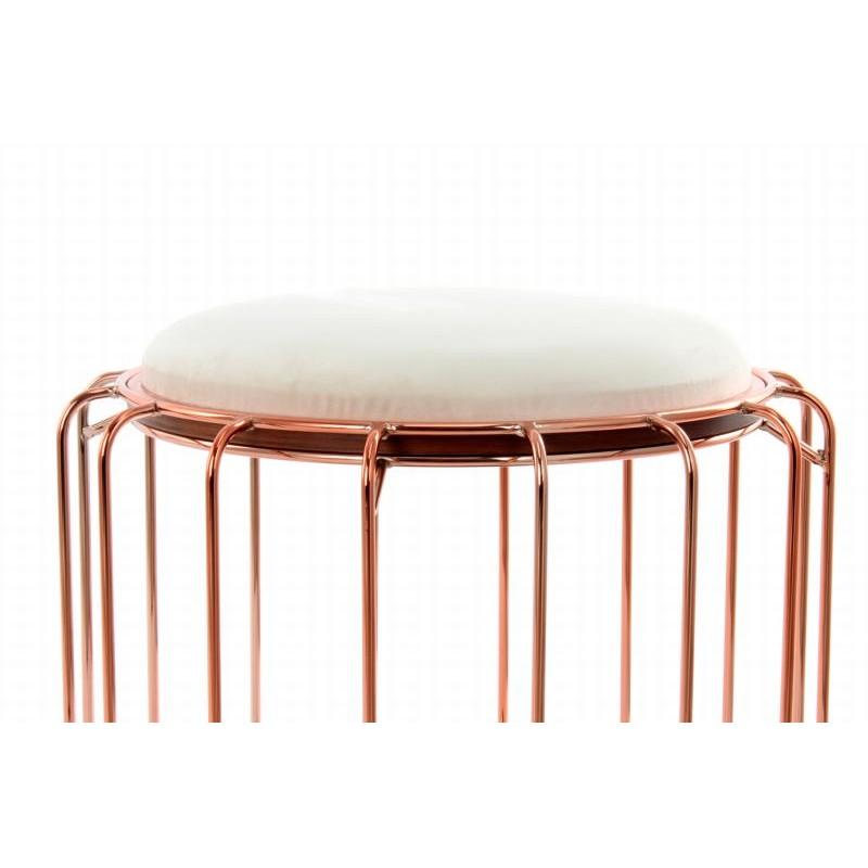 Pouf, table d'appoint FAUVE en velours (Beige, Rosé) - image 42510